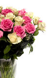 Beautiful bouquet of roses in vase Stock Photo