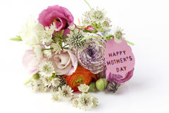 Beautiful bouquet of Spring flowers for Mother's Day Stock Photo