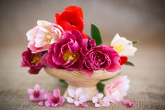 Beautiful bouquet of spring flowers Stock Photography
