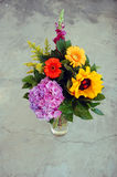 Beautiful bouquet of summer flowers Stock Photo