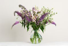 Beautiful bouquet of wildflowers stock photography