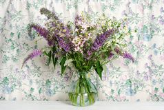 Beautiful bouquet of wildflowers royalty free stock photo
