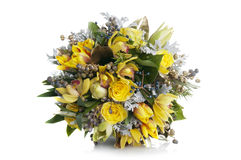 Beautiful bouquet of yellow flowers Stock Image