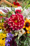 Beautiful bouquets from flowers and herbs Stock Image