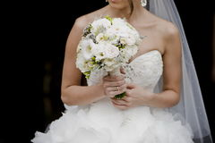 Beautiful bouquets of flowers ready for the big wedding ceremony Royalty Free Stock Photos