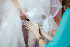 Beautiful bouquets of flowers ready for the big wedding ceremony Royalty Free Stock Photography
