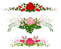 Beautiful bouquets from roses Stock Images