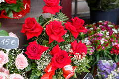 Beautiful bouquets of roses Royalty Free Stock Photo