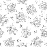 Beautiful bouquets of roses Seamless pattern. Stock Image