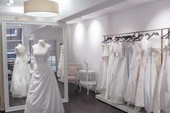Beautiful Boutique wedding store Stock Photo