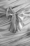 Beautiful bow on fabric background Royalty Free Stock Images