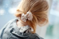 Beautiful bow with rhinestones Stock Images
