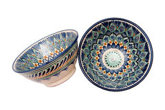 Beautiful bowl on a white background. Isolated Stock Photo