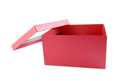 The beautiful box. The beautiful red box is isolated on a white background Stock Photo