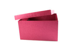 The beautiful box. The beautiful red box is isolated on a white background Royalty Free Stock Photo