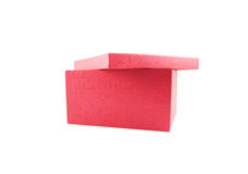 The beautiful box. The beautiful red box is isolated on a white background Royalty Free Stock Images