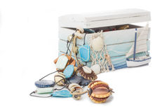 Beautiful box with beads Stock Photography