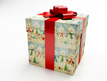 Beautiful box with a gift. For the new year Stock Photo