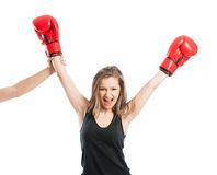 Beautiful boxer female Royalty Free Stock Photography