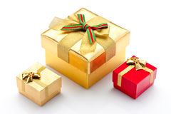 Beautiful boxes for gifts. On a white background Royalty Free Stock Photography
