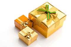 Beautiful boxes for gifts. On a white background Stock Image
