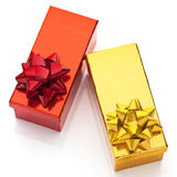 Beautiful boxes for gifts. On a white background Stock Images