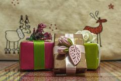 Beautiful boxes with a surprise. Good gifts for relatives stock image