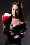 Beautiful boxing girl, fitness Royalty Free Stock Image