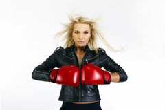 Beautiful boxing woman Stock Photo