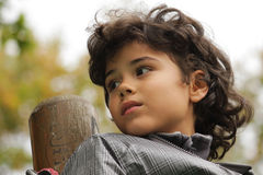 Beautiful boy. Outdoor portrait of an attractive boy Royalty Free Stock Photo