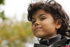 Beautiful boy. Outdoor portrait of an attractive boy Royalty Free Stock Photos
