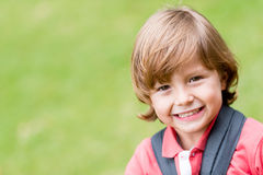 Beautiful boy outdoors Royalty Free Stock Photography