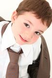 Beautiful Boy in Suit stock images