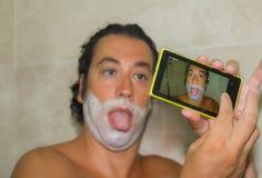 Free Beautiful Boy Taking Selfie Stock Image - 43891231