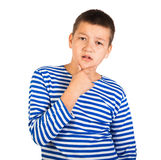 Beautiful boy the teenager isolated Stock Photography