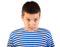 The beautiful boy the teenager isolated Royalty Free Stock Photography