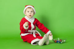 Beautiful boy wearing Santa costume Stock Photography