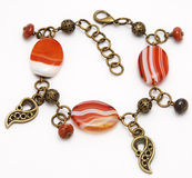 Beautiful bracelet from sardonyx Royalty Free Stock Photos