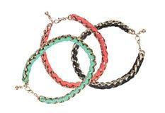 Beautiful bracelets  isolated on white Stock Photography