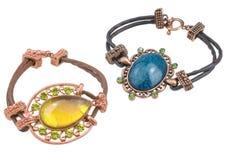 Beautiful bracelets isolated Royalty Free Stock Photography