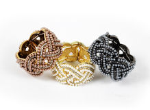 Beautiful bracelets isolated on white background Stock Images