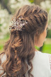 Beautiful  braid hairstyle Stock Image