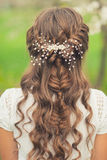 Beautiful  braid hairstyle Royalty Free Stock Photography