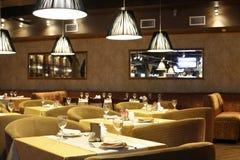 European restaurant in bright colors Stock Photos