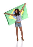 Beautiful Brazilian Fan Stock Photography