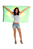 Beautiful Brazilian Fan Royalty Free Stock Image