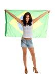 Beautiful Brazilian Fan Royalty Free Stock Image