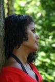 Beautiful brazilian woman. Looking sad Stock Photo