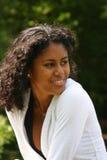 Beautiful brazilian woman. Outdoors Royalty Free Stock Image