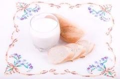 Beautiful bread with milk Stock Image